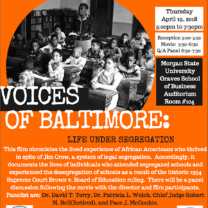 """Free Showing of """"Voices of Baltimore: Life Under Segregation"""""""