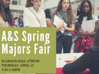 Arts & Sciences Majors and Experiential Learning Fair