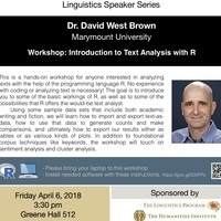Workshop: Introduction to Text Analysis with R