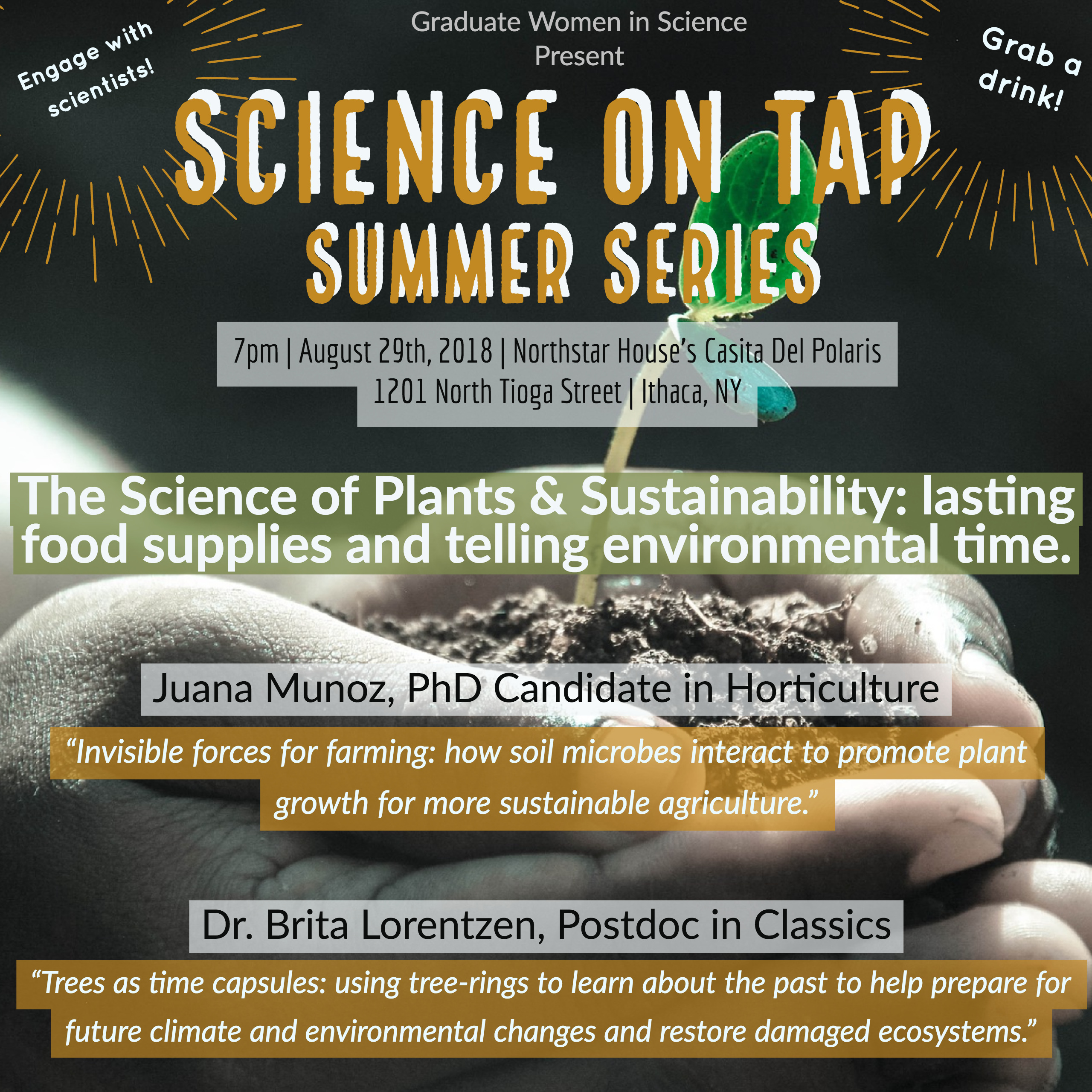 """Science on Tap Summer Series: """"The Science of Plants and Sustainability"""""""