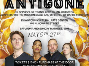 Antigone, by Sopocles, adapted for the modern stage, directed by Barry Feinstein