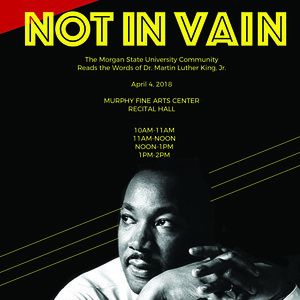 Not In Vain! Martin Luther King Jr. Read-In