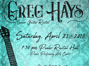 Greg Hays, guitar - Senior Recital