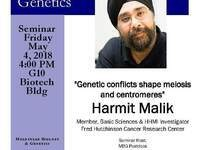 "MBG Friday Seminar with Harmit Malik ""Genetic conflicts shape meiosis and centromeres"""