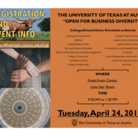 "UT Austin: ""Open for Business Diversity"" HUB Vendor Forum"