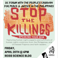 Stop the Killings Speaking Tour 2018: DC Forum with the People's Caravan for Peach & Justice in the Philippines