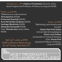 Janey Program in Latin American Studies Annual Conference