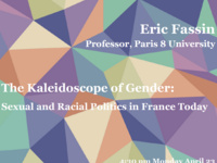 "Eric Fassin: ""The Kaleidoscope of Gender: Sexual and Racial Politics in France Today"""