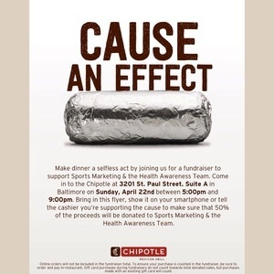 Morgan State Athletics & SGA Health Awarness Team: Chipotle Fundraiser