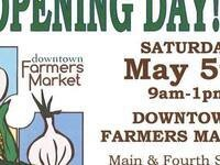 Downtown Farmers Market Opening Day 2018 @ Crawford Park