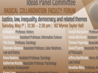 Justice, Law, Inequality, Democracy, and Related Themes: Ideas Panel