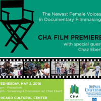 CHA/DePaul Documentary Film Premiere with Co-host Chaz Ebert