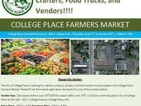 College Place Farmers & Artisans Market @ College Place City Hall