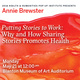 """Annie Brewster, """"Putting Stories to Work: Why and How Sharing Stories Promotes Health"""""""