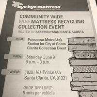 Free Mattress Recycling Collection Event