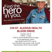 Devils Lake Hospital Blood Drive