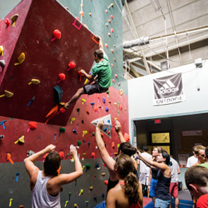 Kid's Day at the Climbing Wall