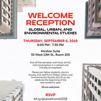 Welcome Reception for Global, Urban, and Environmental Studies