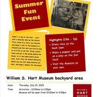 William S. Hart Museum Summertime Open House and Children's Event