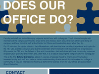 Behind the Scenes at the CEL: What Exactly Does Our Office Do?