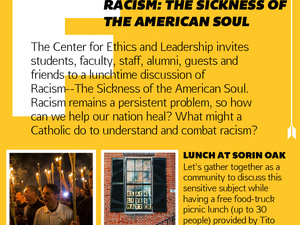CEL Fusion Discussion--Racism: The Sickness of the American Soul