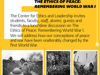 CEL Fusion Discussion: The Ethics of Peace--Remembering WWI