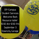 Off-Campus Student Services welcome back resource table