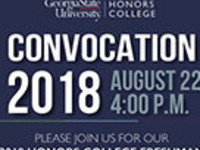 Honors College 2018 Convocation