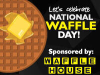 Let's Celebrate National Waffle Day!