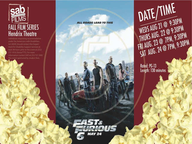 Movie Showing: Fast & Furious 6