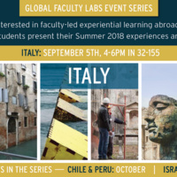 MISTI-Italy Global Faculty Labs Event Series