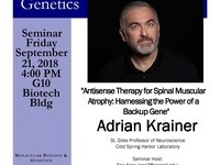 "MBG Friday Seminar with Adrian Krainer ""Antisense Therapy for Spinal Muscular Atrophy: Harnessing the Power of a Backup Gene"""