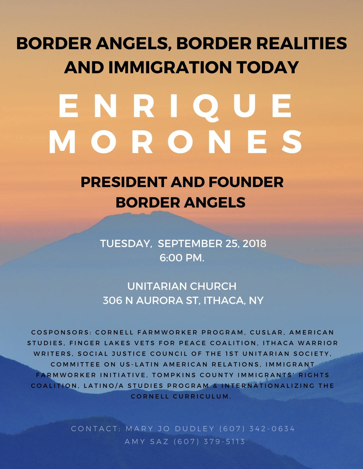Border Angels founder & director, Enrique Morones, to give lecture