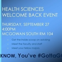 Health Sciences Welcome Back