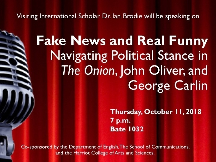"""""""Fake News and Real Funny: Navigating Political Stance in The Onion, John Oliver, and George Carlin"""""""