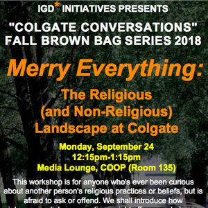 Merry Everything: The Religious (and Non-Religious) Landscape at Colgate
