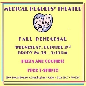 Medical Readers' Theater Fall Rehearsal