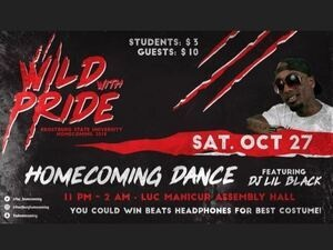 "Frostburg State University Homecoming ""One Wild Night"" Halloween Dance featuring DJ Lil Black"
