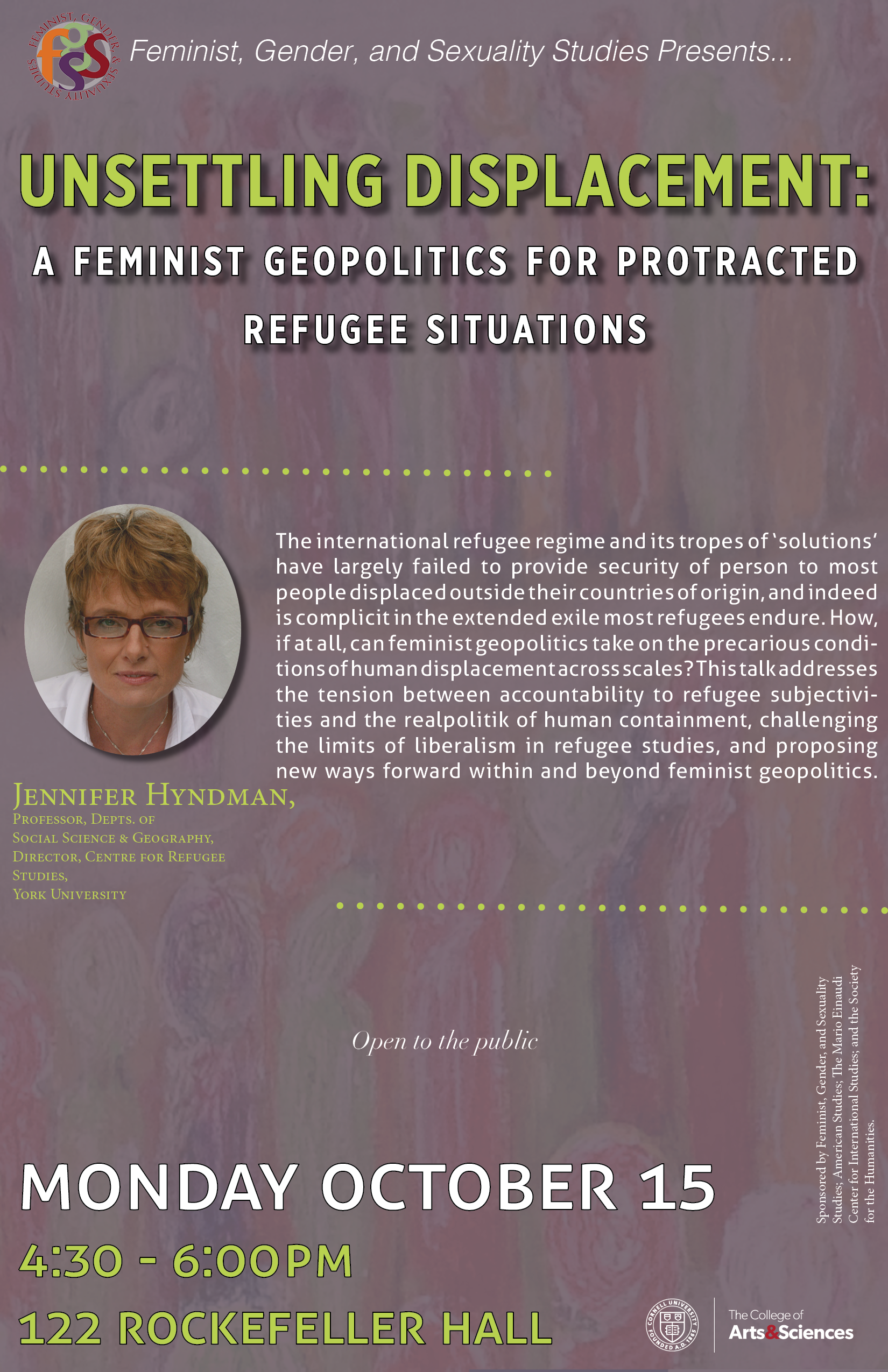 Unsettling Displacement: A Feminist Geopolitics of Protracted Refugee Situations