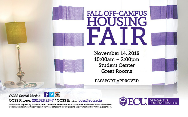 Fall Off-Campus Housing Fair