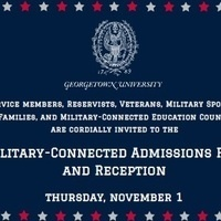 Georgetown University Military-Connected Admissions Fair and Reception