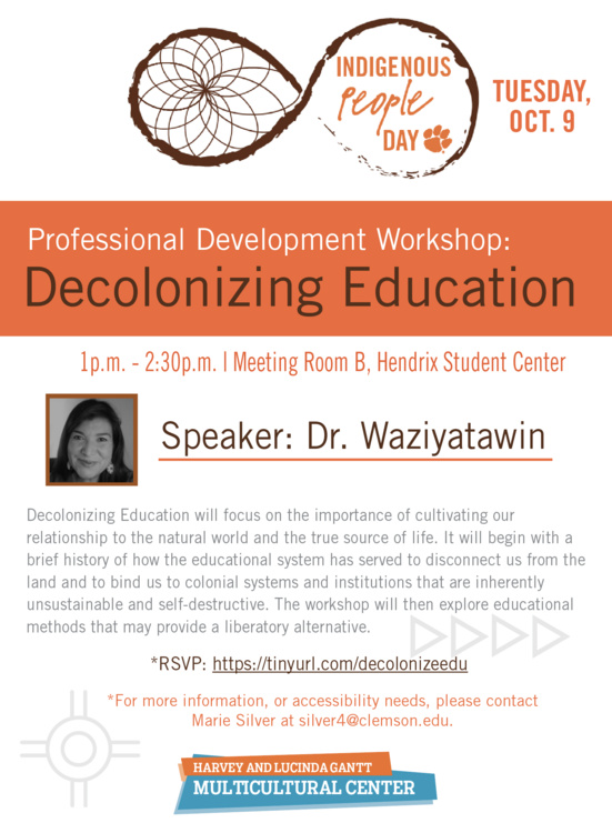 Indigenous Peoples Day Workshop: Decolonizing Education