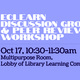 ECLearn Discussion Groups & Peer Review Workshop
