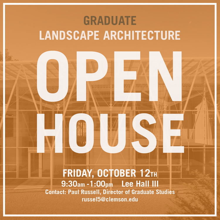 Master of Landscape Architecture OPEN HOUSE