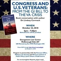 Congress and U.S. Veterans: From the GI Bill to the VA Crisis--A Book Conversation with Dr. Lindsey Cormack