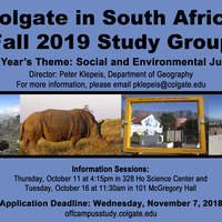 South Africa Study Group Fall 2019 Info Session