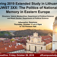 Lithuania Spring 2019 Extended Study Info Session