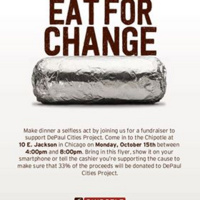 The Cities Project's Chipotle Fundraiser