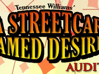 """Auditions for """"A Streetcar Named Desire"""" by Tennessee Williams"""