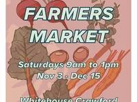 Fall Indoor Farmers Market @ Whitehouse Crawford Restaurant